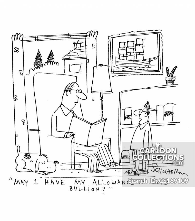 gold bullion cartoon