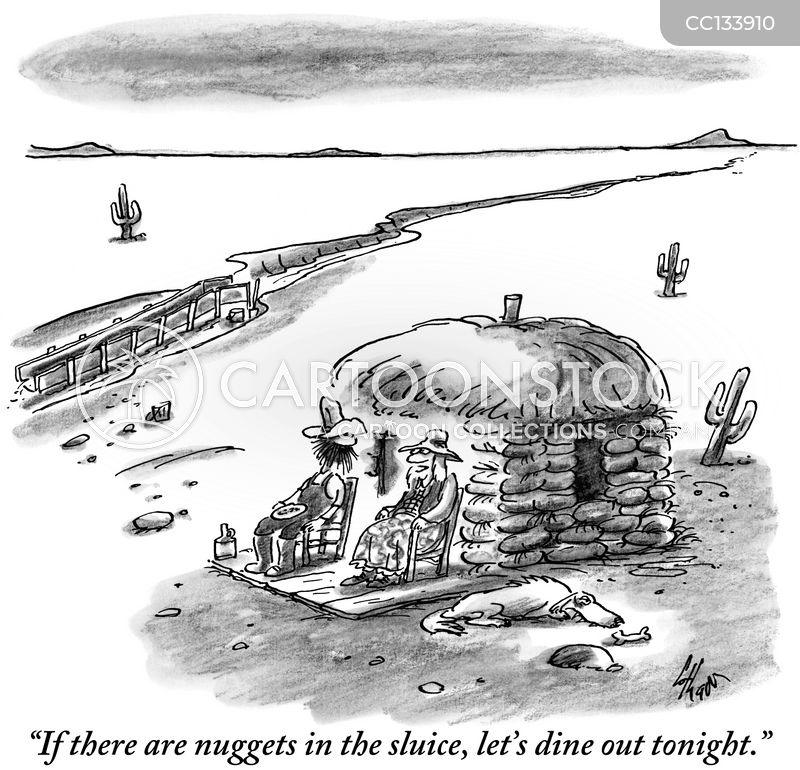 sluices cartoon