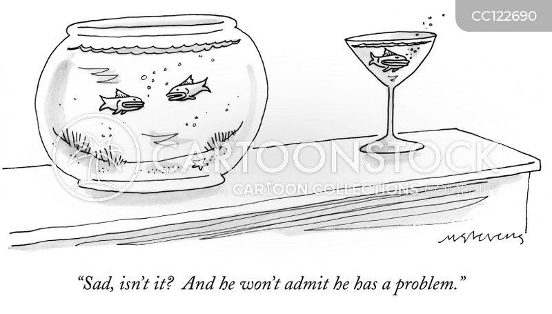 alcohol problem cartoon