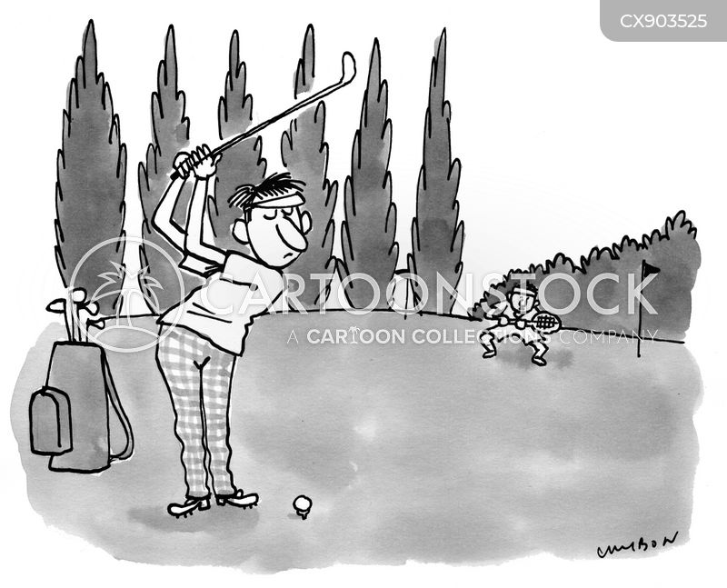 golf lovers cartoon