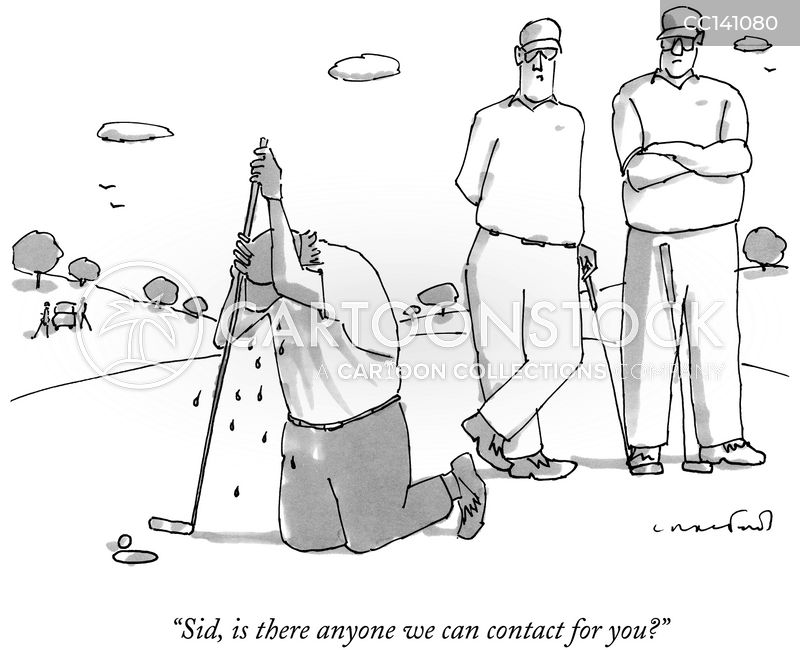 Professional Golfers cartoon