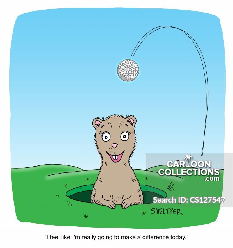 golfer players cartoon