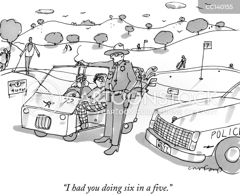 golf buggies cartoon