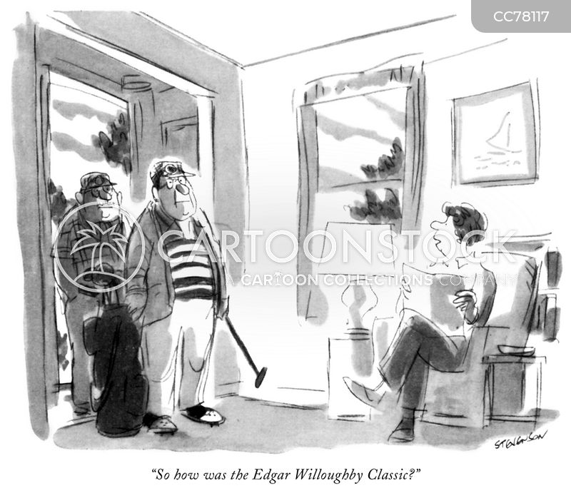 golfers cartoon