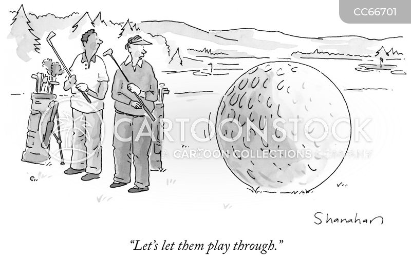 golf ball cartoon