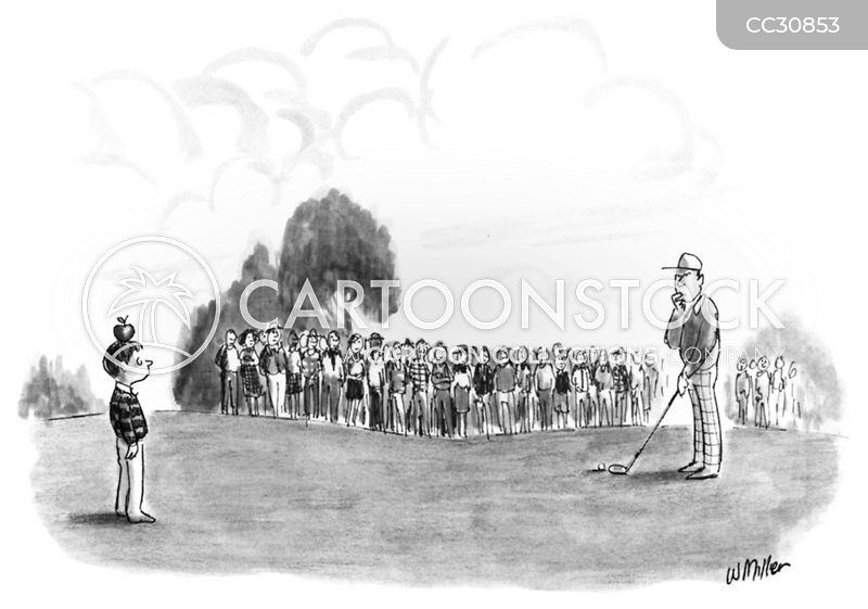 Pro Golfers cartoon