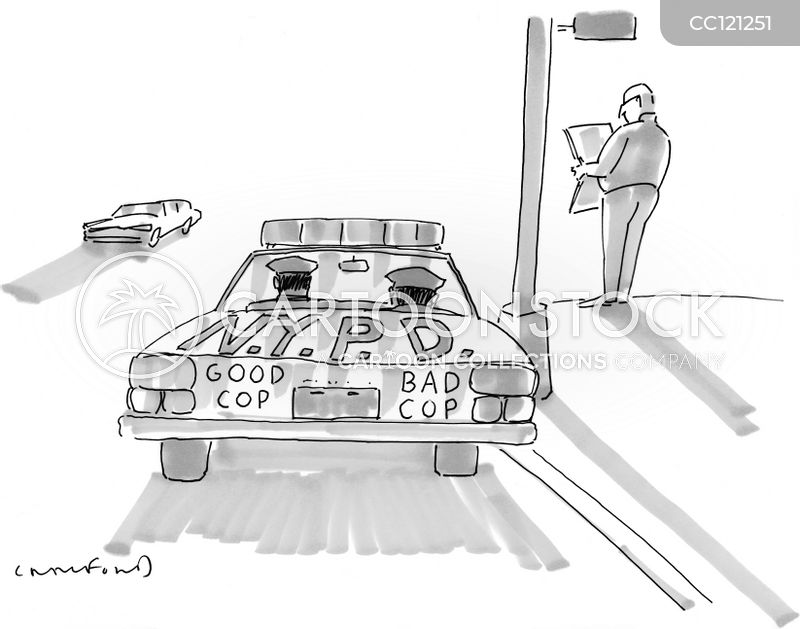 law enforcement cartoon