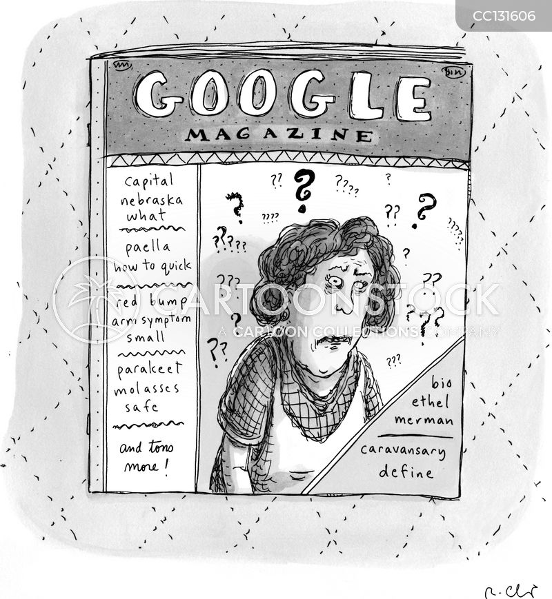 internet searching cartoon