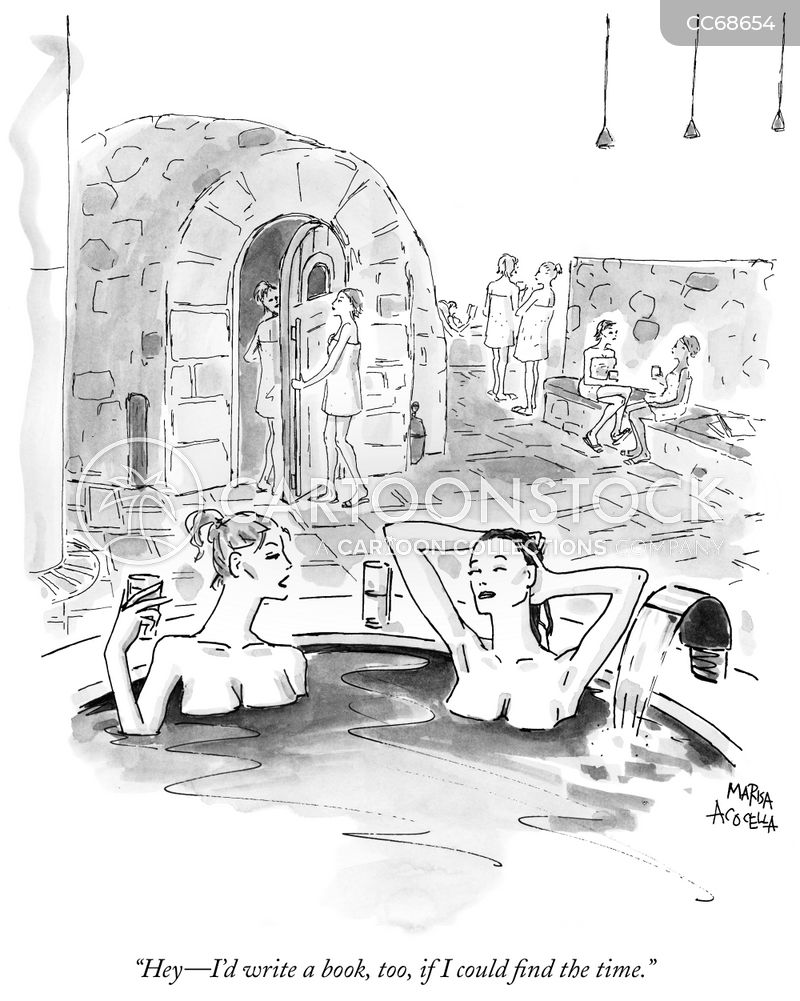 spa cartoon