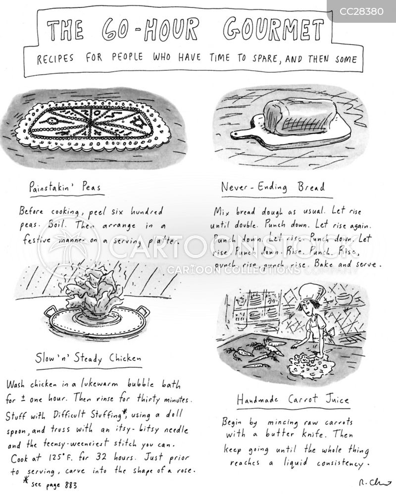 gourmet recipe cartoon