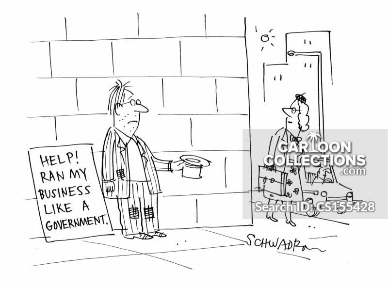 government borrowing cartoon