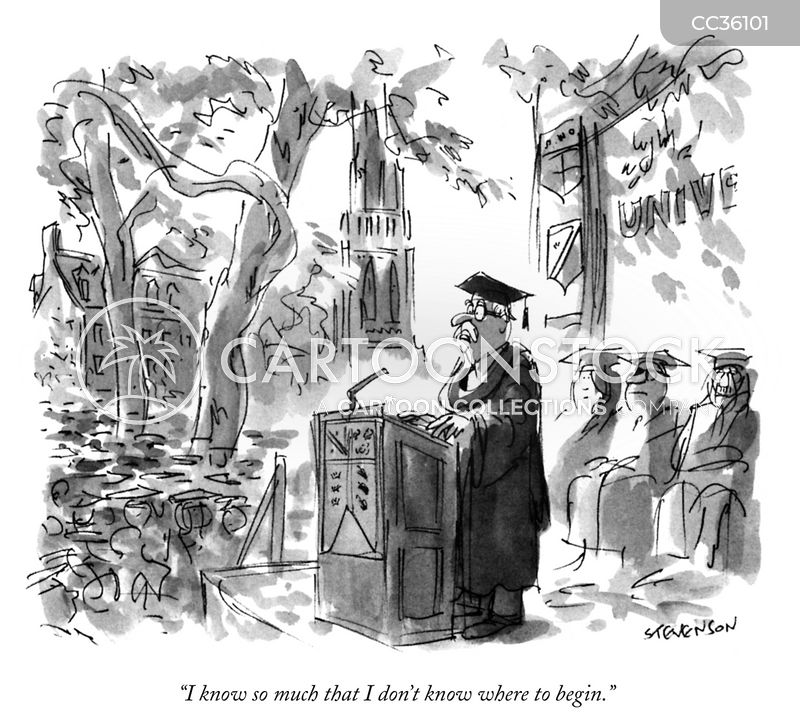 commencements cartoon