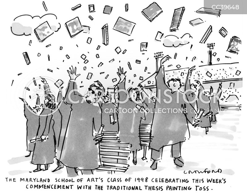 university graduation cartoon