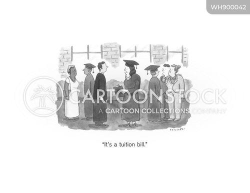 tuition fees cartoon
