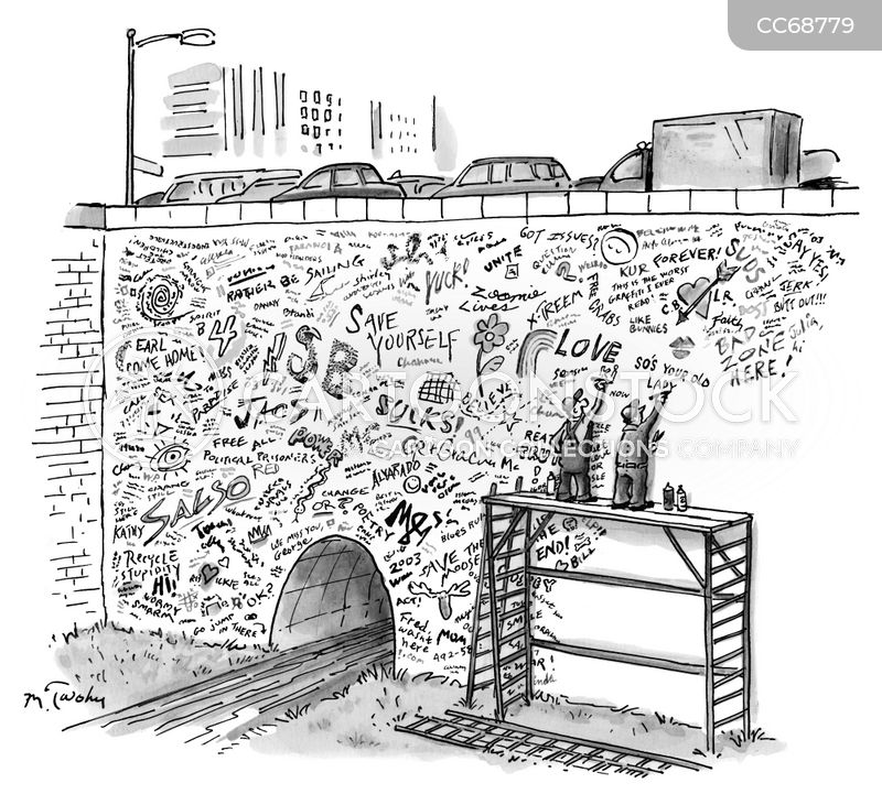 graffiti removal cartoon
