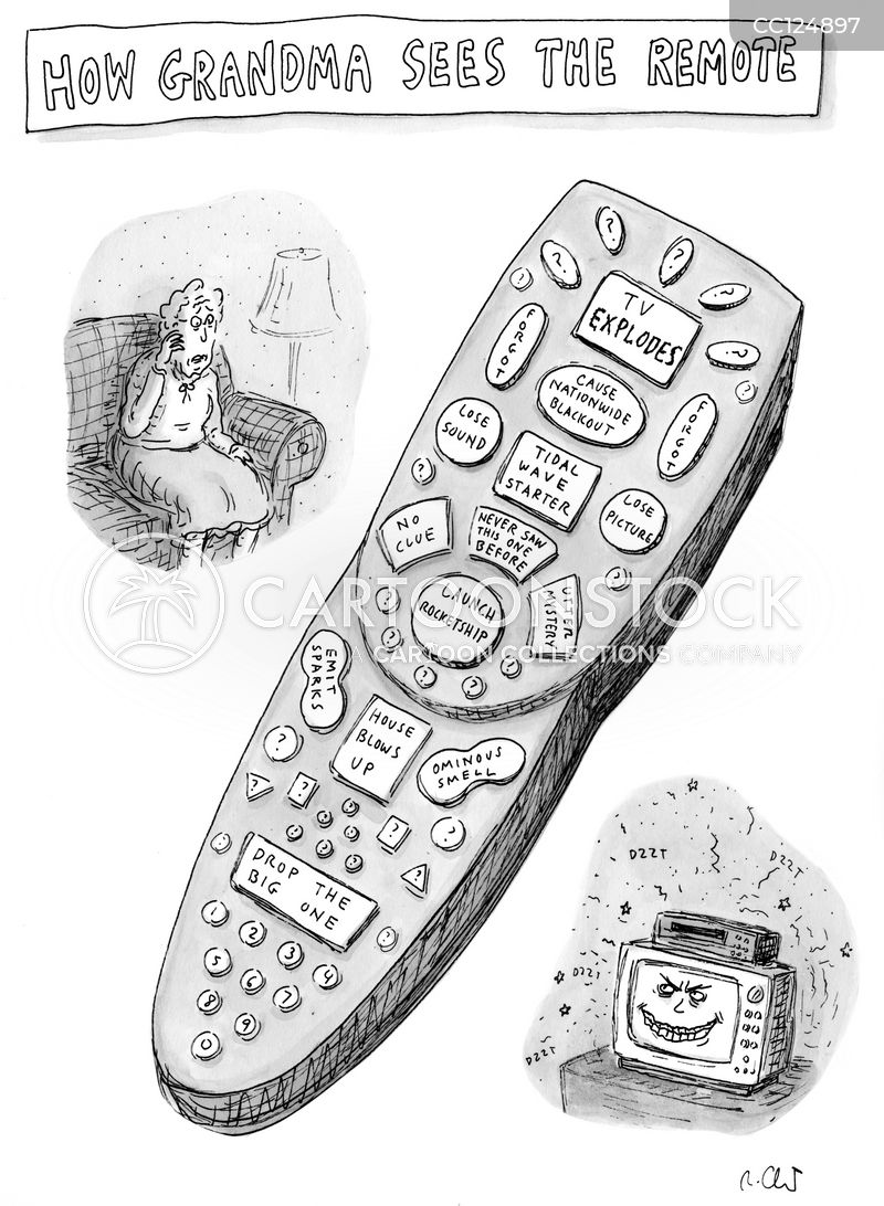 remote cartoon