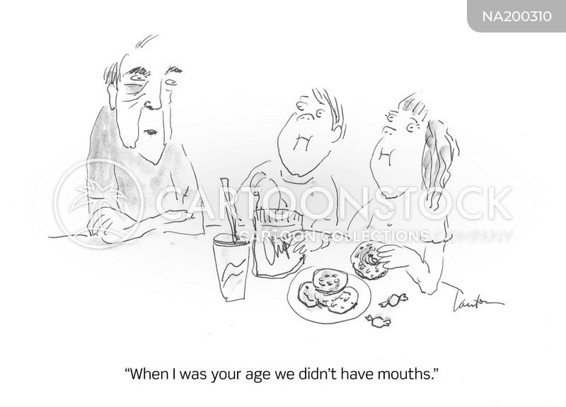 dinner manners cartoon