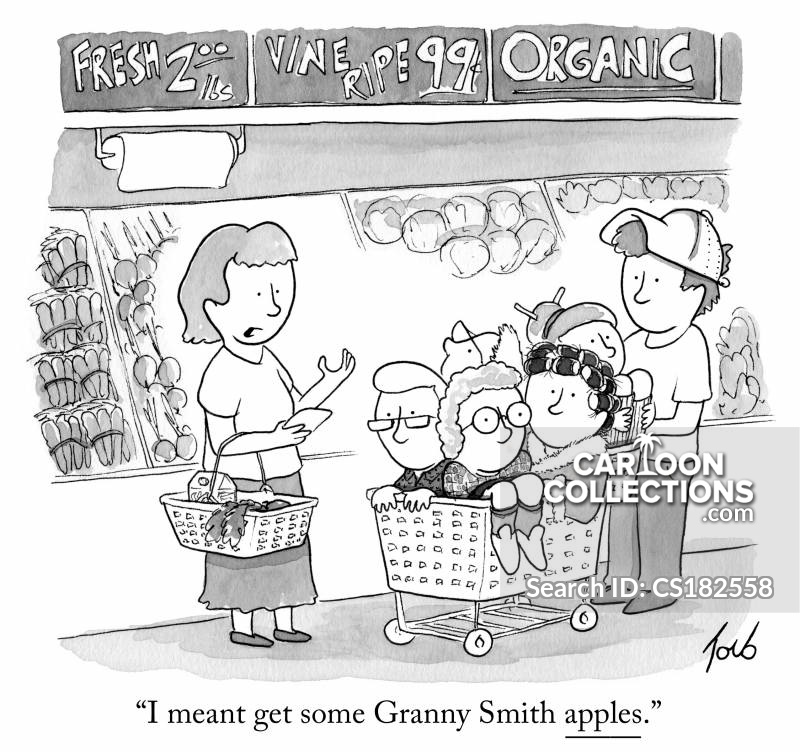Produce Department cartoon