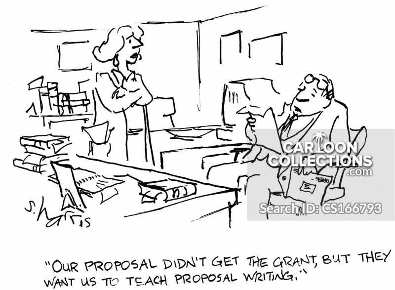 proposal writing cartoon