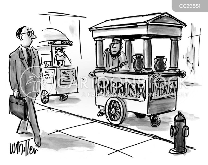 drinks stand cartoon
