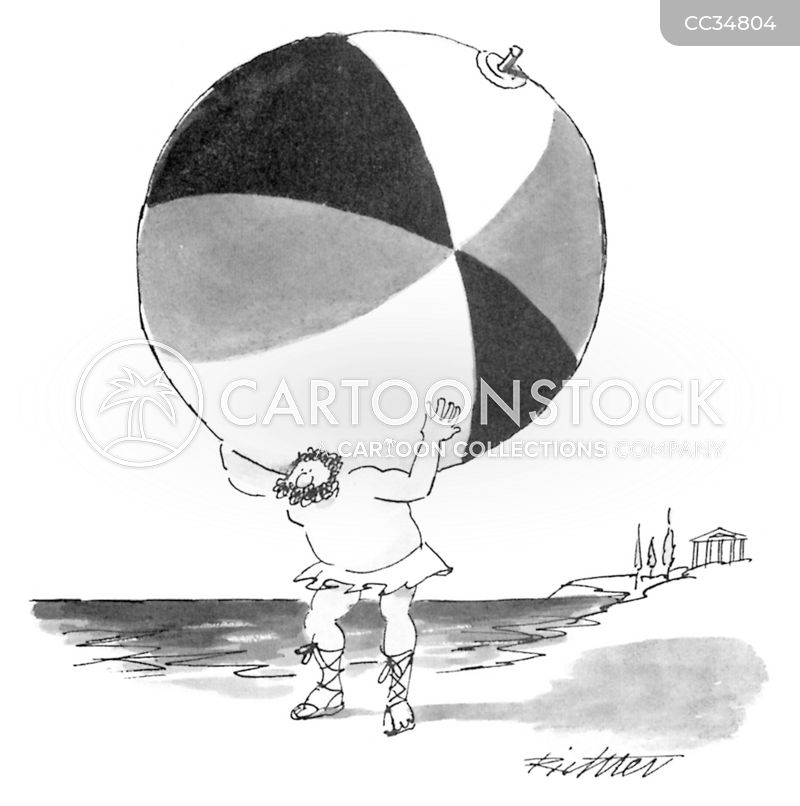 beach balls cartoon