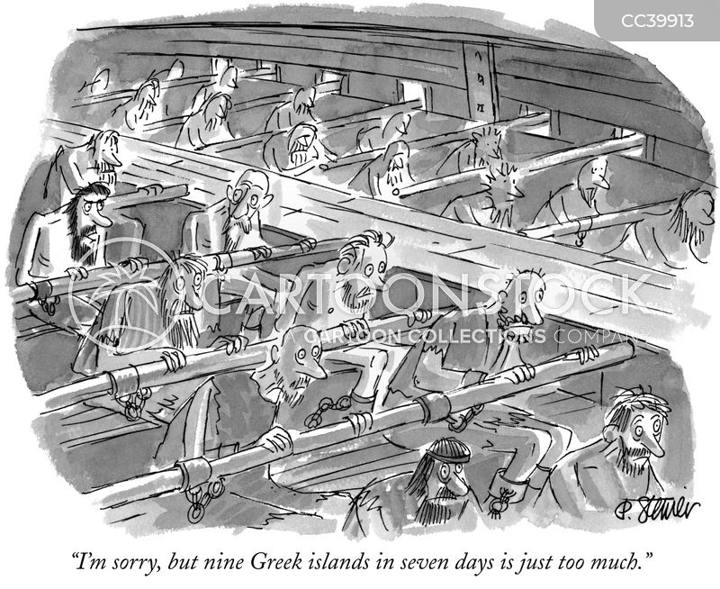 greek island cartoon