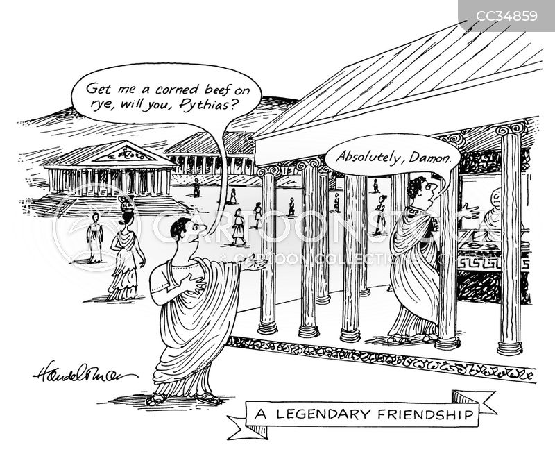 Pythias cartoon