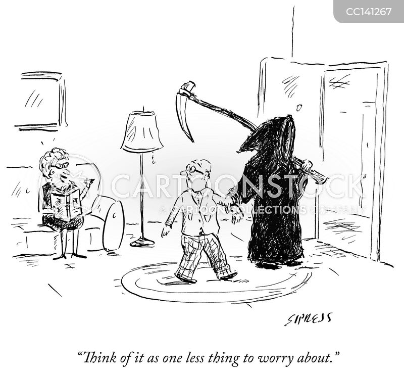 dark humor cartoon