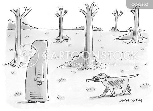 dog walk cartoon