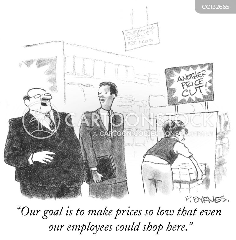 price cuts cartoon
