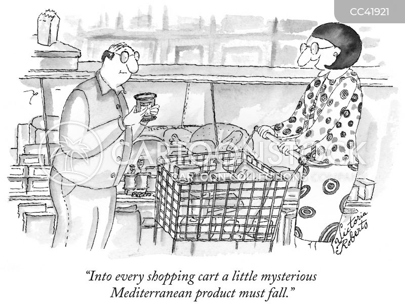 shopping list cartoon