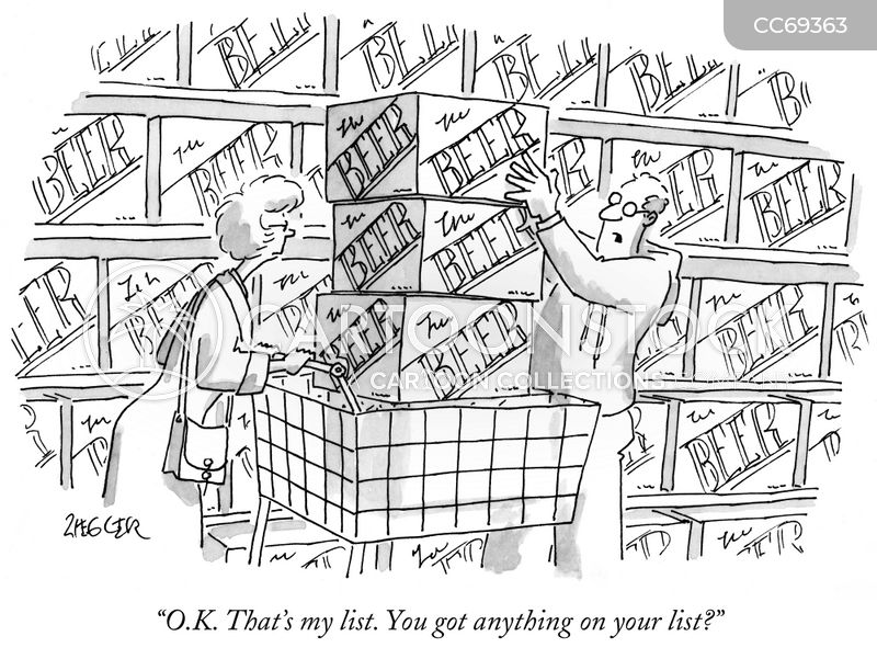grocery cart cartoon