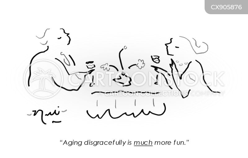 growing old with grace cartoon