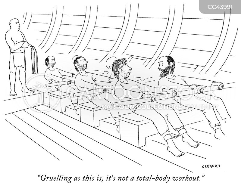 workout cartoon
