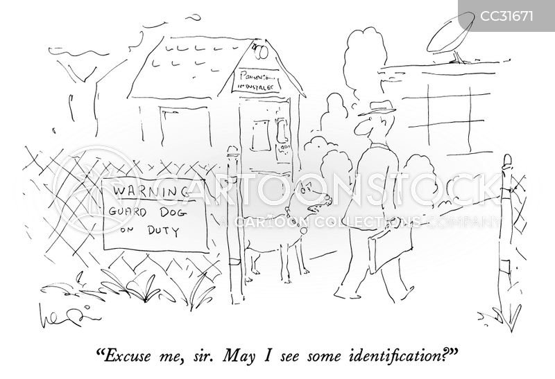 identification card cartoon