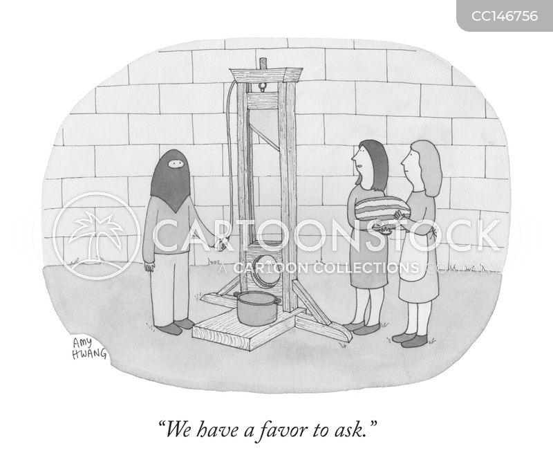 guillotines cartoon
