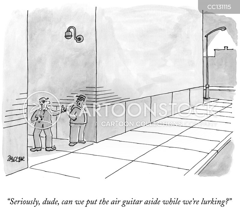air guitar cartoon