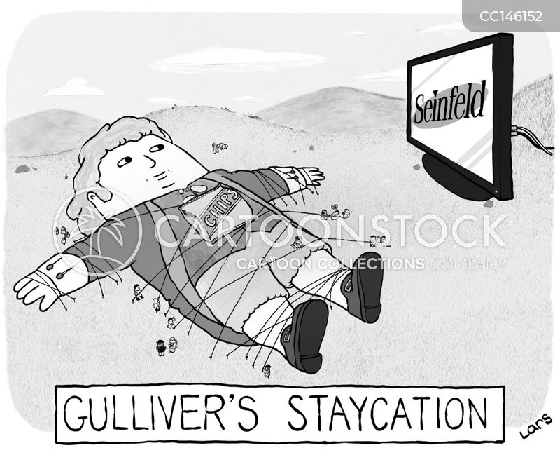 staycation cartoon