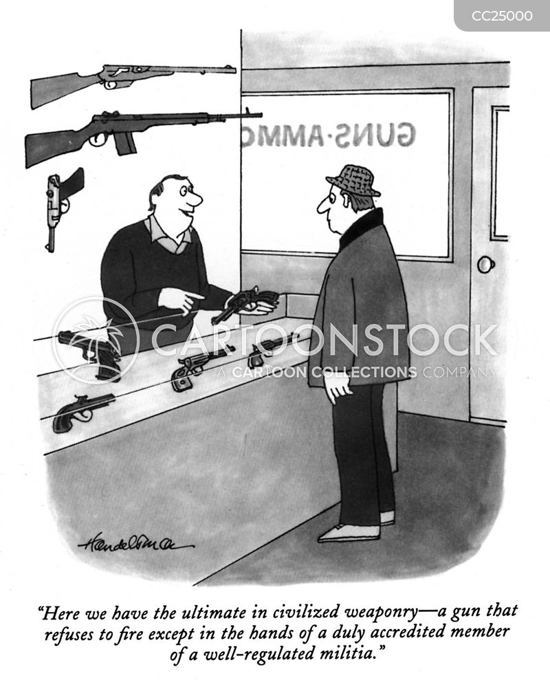 gun control cartoon