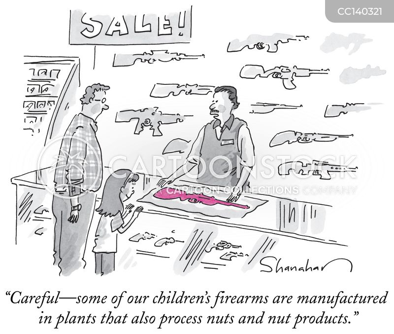 guns cartoon