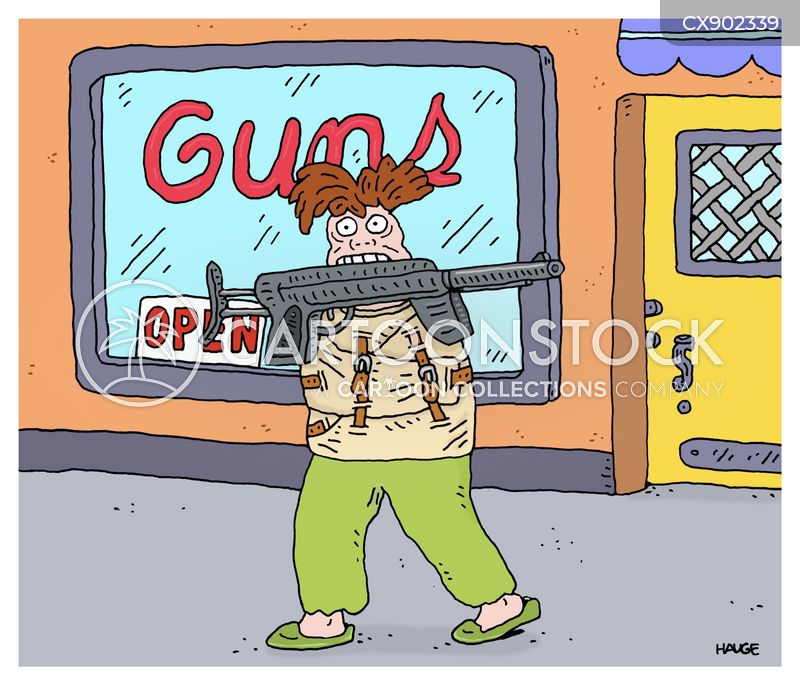 gun stores cartoon