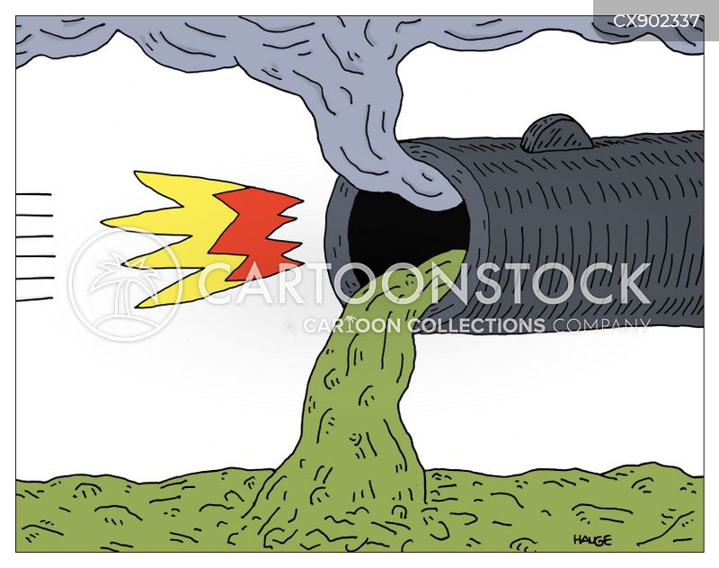 sewage pipes cartoon