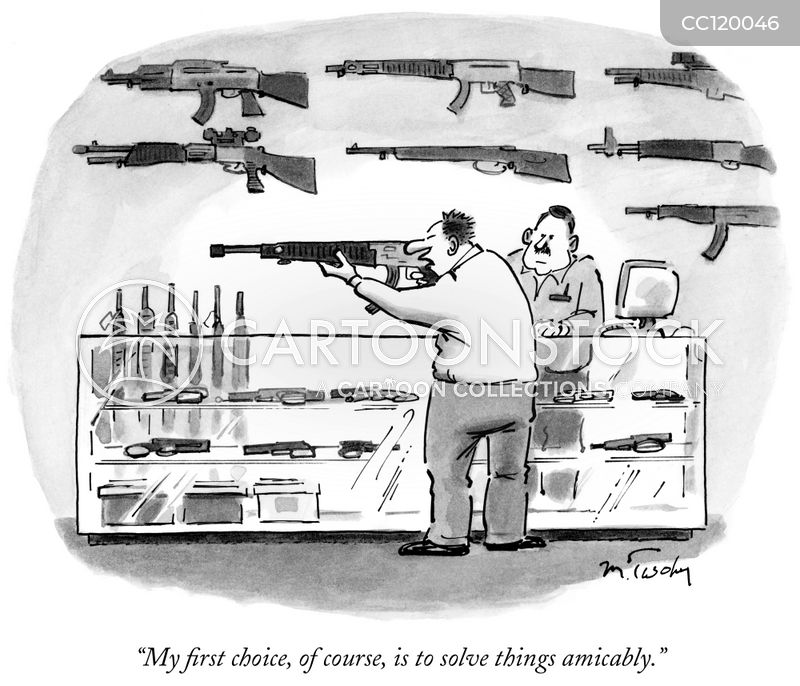 gun laws cartoon