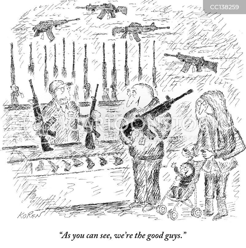 machine guns cartoon