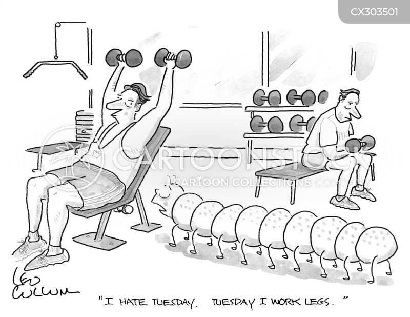 leg day cartoon