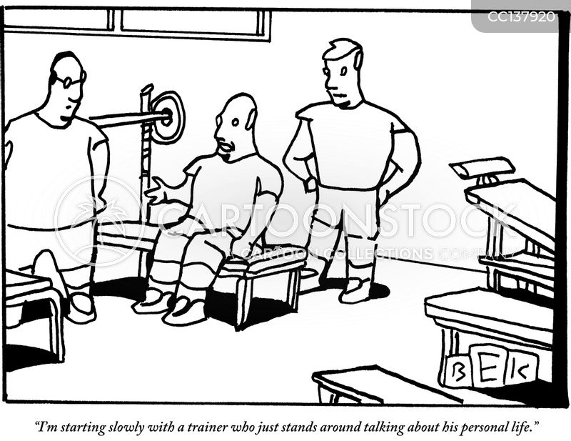 fitness centers cartoon