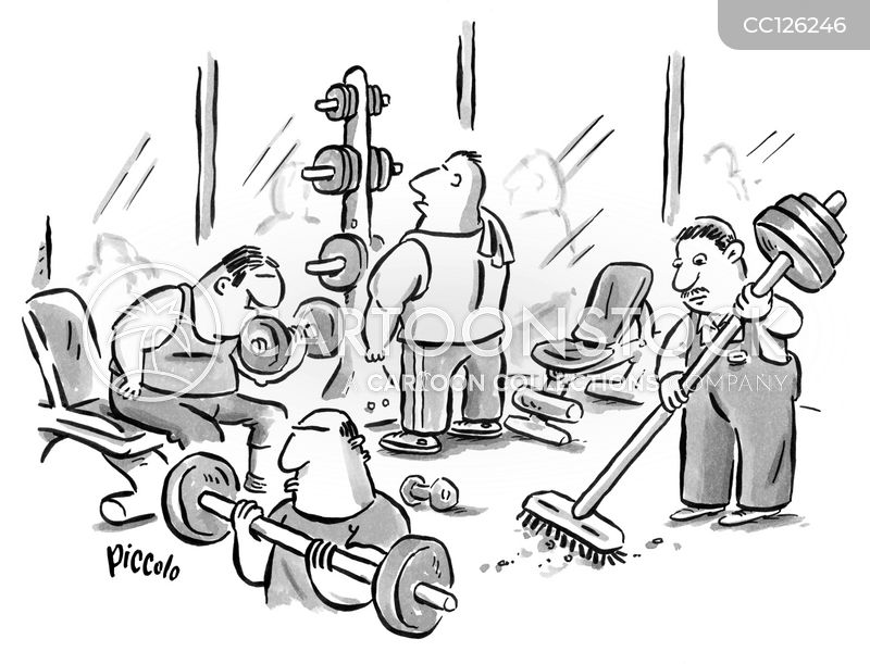 body building cartoon