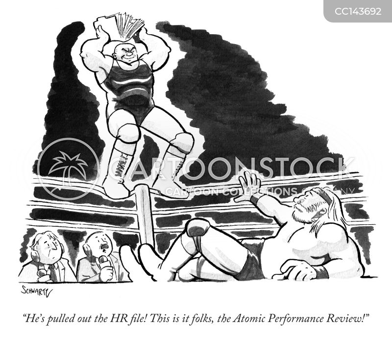 wrestle cartoon