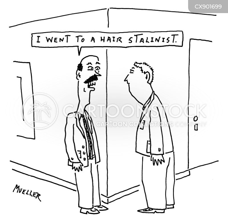 hair stylist cartoon