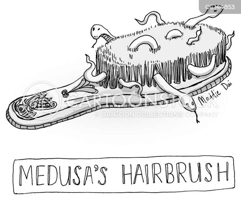 hairbrushes cartoon